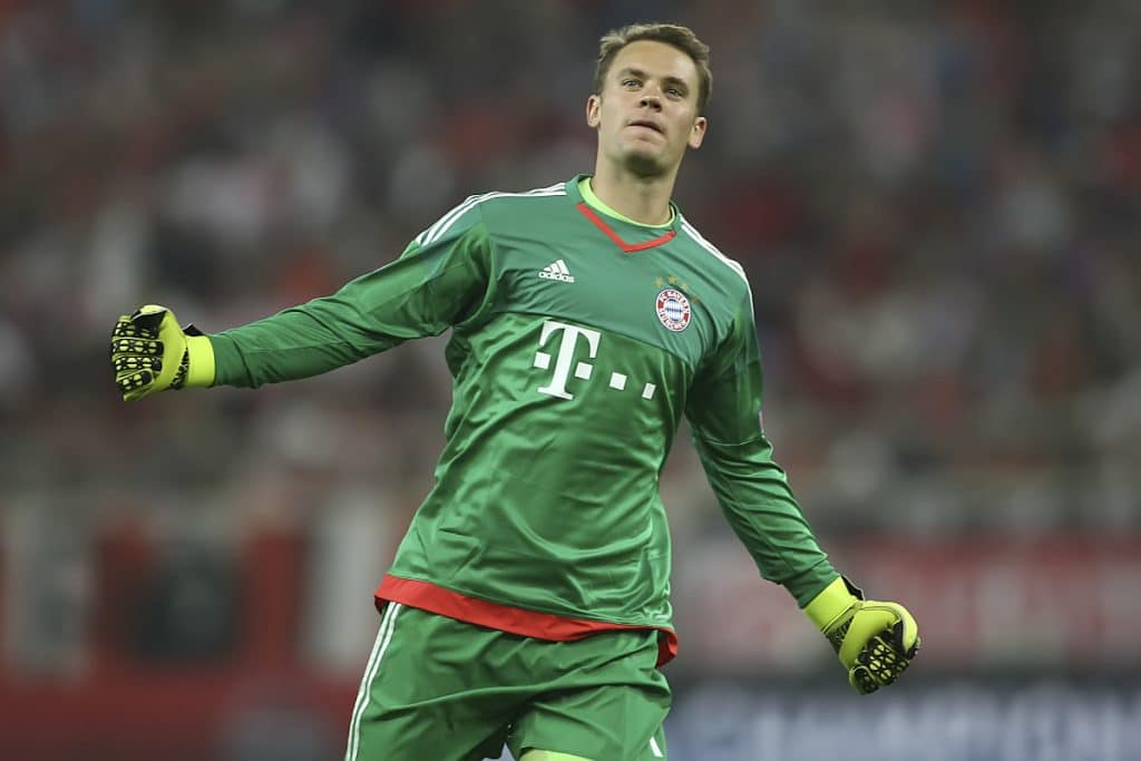 Manuel Neuer vom FC Bayern München - als Stammtorhüter trägt er immer die Nummer 1! (Foto Shutterstock)