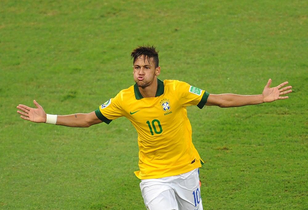 Neymar aus Brasilien trägt die Rückennummer 10 (Foto Shutterstock)