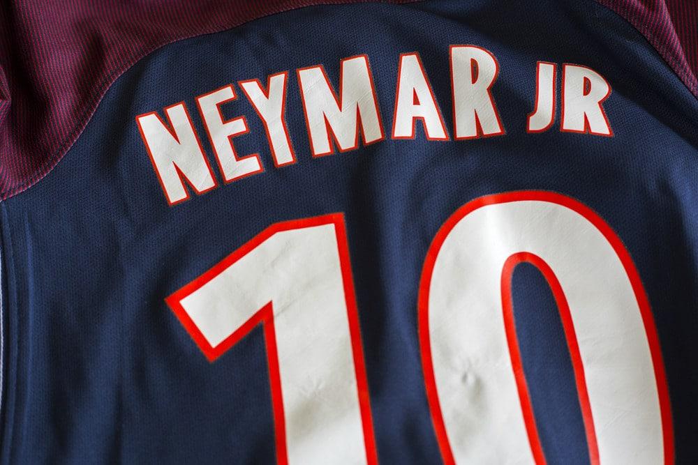 Die Nummer 10 bei Paris St.Germain trägt Neymar Junior (Foto Shutterstock)