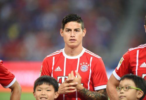 Beim deutschen Rekordmeister FC Bayern München trägt James Rodriguez die Trikotnummer 11. (Foto Shutterstock)