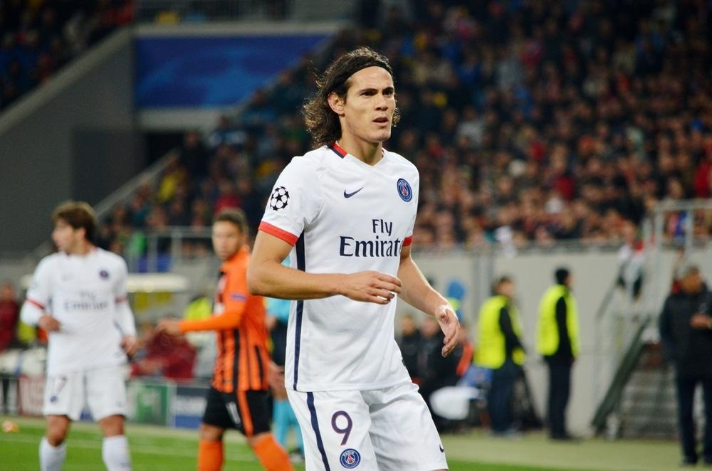 Edison Cavani bei Paris St.Germain mit der Rückennummer 9 (Foto Shutterstock)