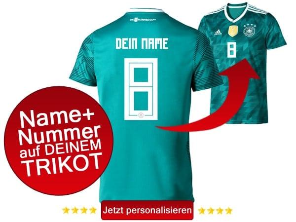 Das neue DFB Trikot 2018 mit Spielname & Nummer personalisieren!