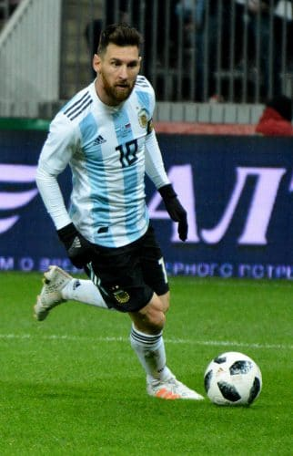 Lionel Messi, Weltmfußballer aus Argentinien mit seiner Lieblingsnummer 10 (Foto Shutterstock)