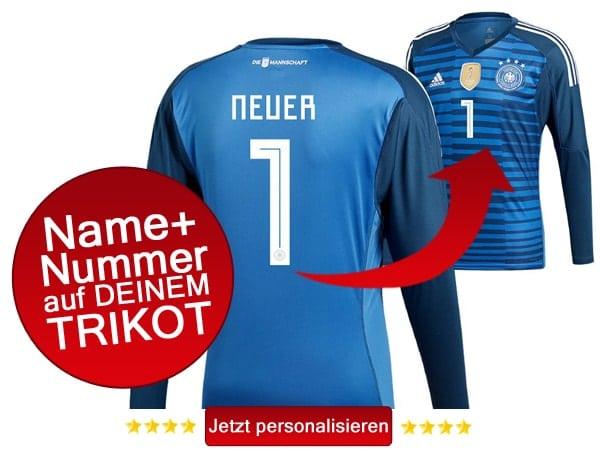 Das neue DFB Trikot von Manuel Neuer bestellen
