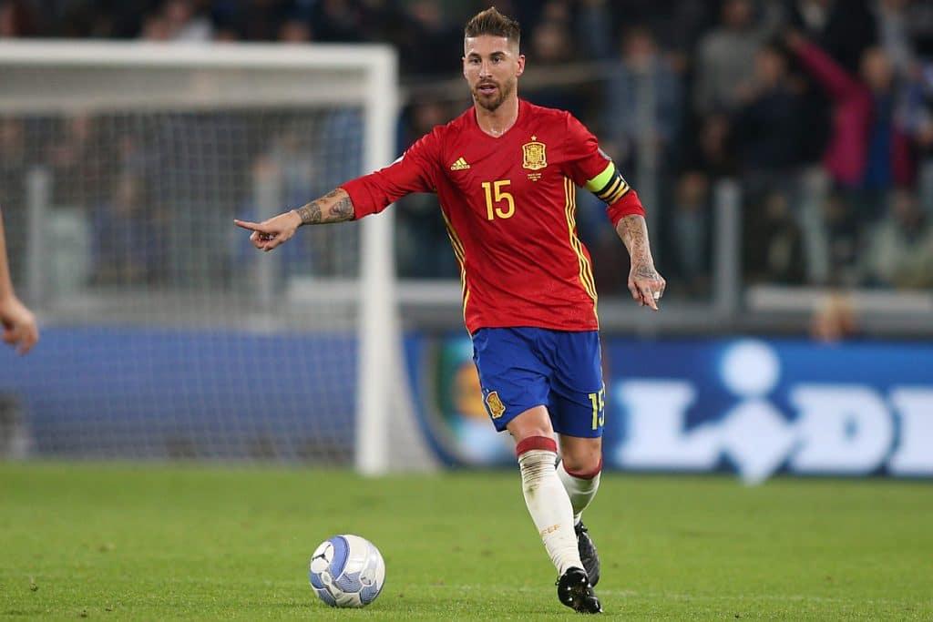 Sergio Ramos im spanischen WM Trikot mit der Rückennummer 15. (Foto Shutterstock)