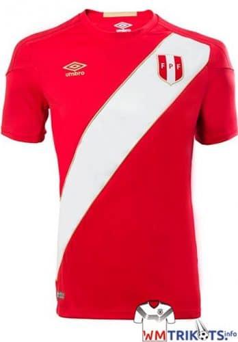 Das neue Awaytrikot von Peru 2018.