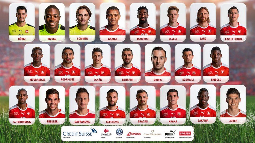 Der WM Kader der Schweiz 2018.
