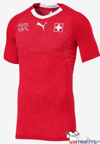 Das Schweiz Heimtrikot von Puma in rot.