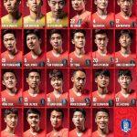 Rückennummern Südkorea WM 2018