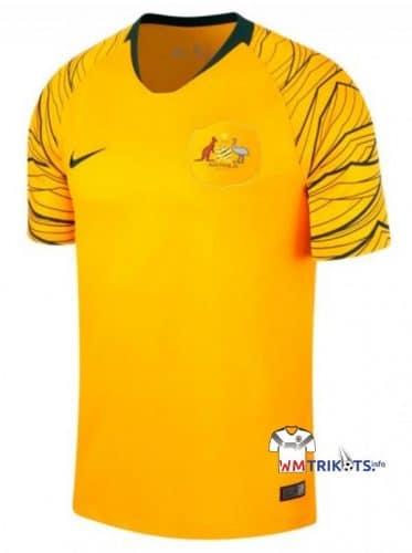 Das neue Heimtrikot von Australien in gelb.