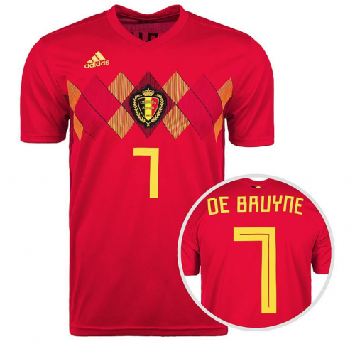 Kevin de Bruyne belgien Trikot 2018 von adidas in rot.