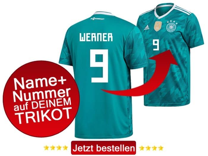 Das neue DFB Awaytrikot von Timo Werner mit der Rückennummer 9.