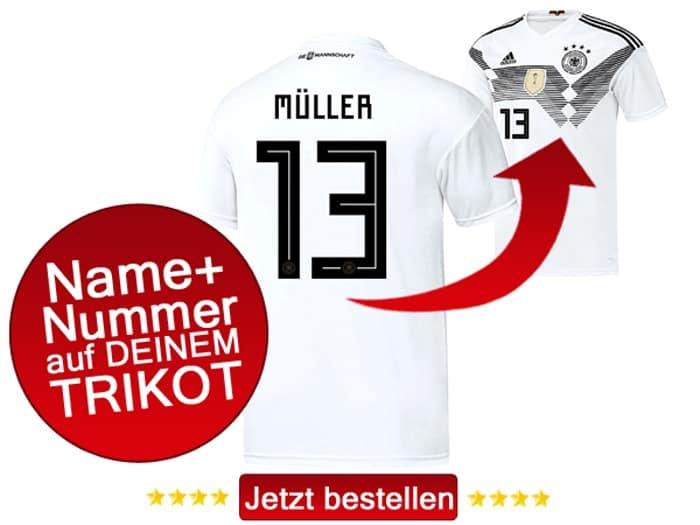 Thomas Müller trägt die Nummer 13 auf dem DFB Trikot 2018.