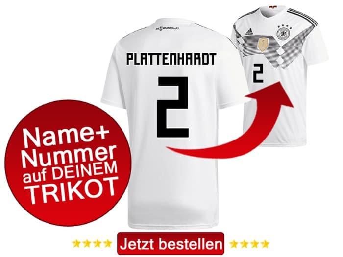 Marvin Plattenhardt tärgt die Nummer 2 bei der Fußball WM 2018