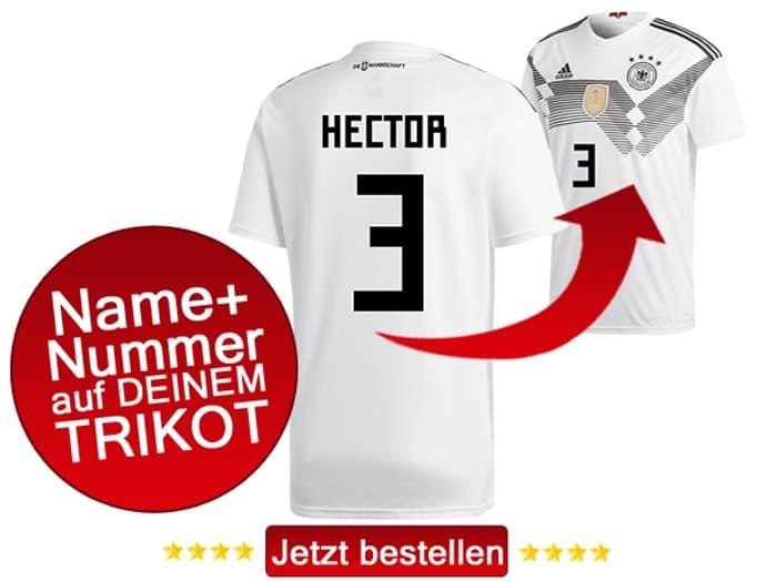 Jonas Hector trägt die Nummer 3 bei der Fußball WM 2018