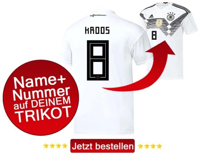 Die Nationalmannschaft Nr 8 trägt derzeit Toni Kroos von Real Madrid.