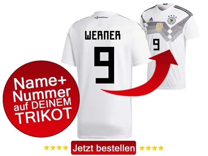 Das neue DFB Heimtrikot von Timo Werner mit der Rückennummer 9.