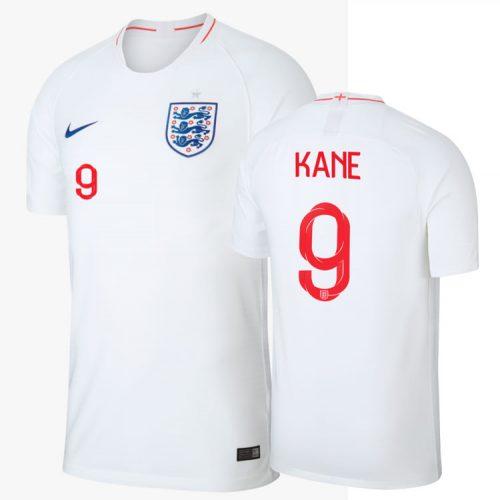 Harry Kane trägt die Nummer 9 auf dem Rücken des Three Lions Trikots 2018 von nike.