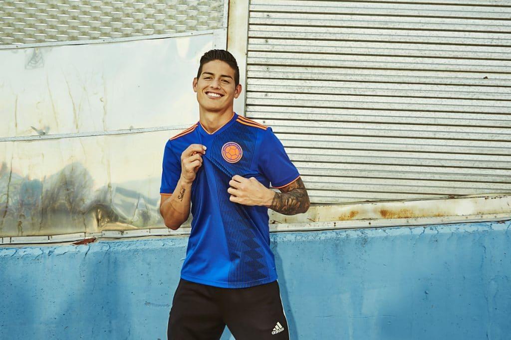 Das neue Kolumbien Away Trikot von Kolumbien - hier James Rodriguez.