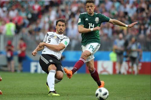 Mats Hummels mit der Rückennummer 5 beim 1.WM-Spiel gegen Mexiko am 17.6.2018 (Marco Iacobucci EPP / Shutterstock.com)