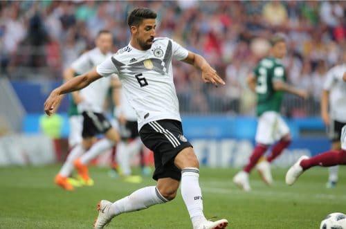 Sami Khedira mit der Rückennummer 6 beim 1.WM-Spiel gegen Mexiko am 17.6.2018 (Marco Iacobucci EPP / Shutterstock.com)