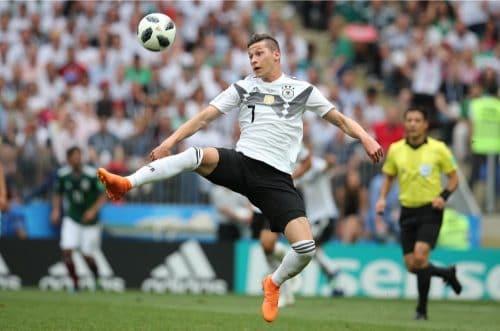 Julian Draxler mit der Rückennummer 7 beim 1.WM-Spiel gegen Mexiko am 17.6.2018 (Marco Iacobucci EPP / Shutterstock.com)