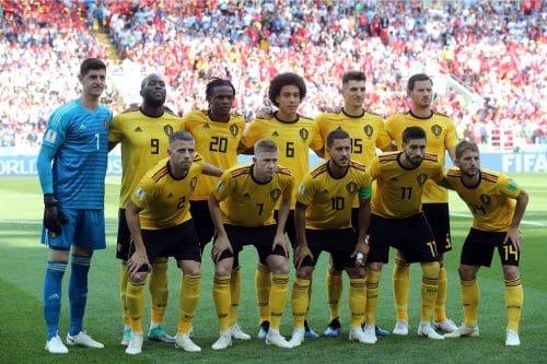Die belgische Startaufstellung beim WM-Vorrundenspiel gegen Tunesien. Marco Iacobucci EPP / Shutterstock.com