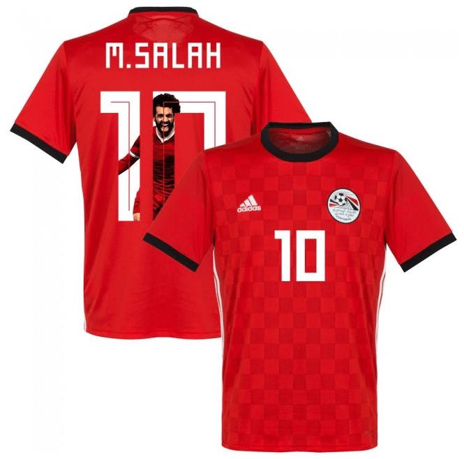 Das neue Salah Heimtrikot von Ägypten mit der Nummer 10.