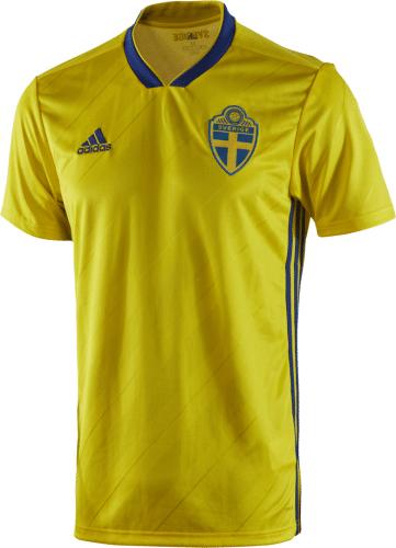 Das neue Schweden Home Trikot von adidas 2018.Das neue Schweden Home Trikot von adidas 2018.