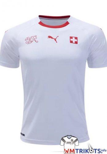 Das Schweiz Awaytrikot von Puma in weiß