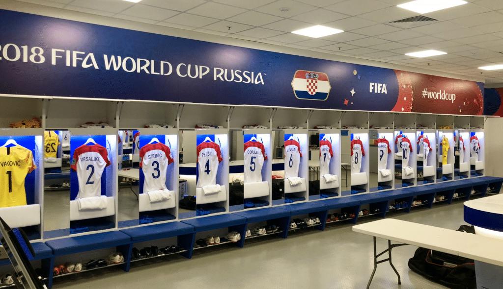 Ein Blick in die Kabine am 16.6. gegen Nigeria bei der Fußball-WM 2018.