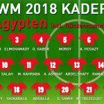 Rückennummern Ägypten WM 2018