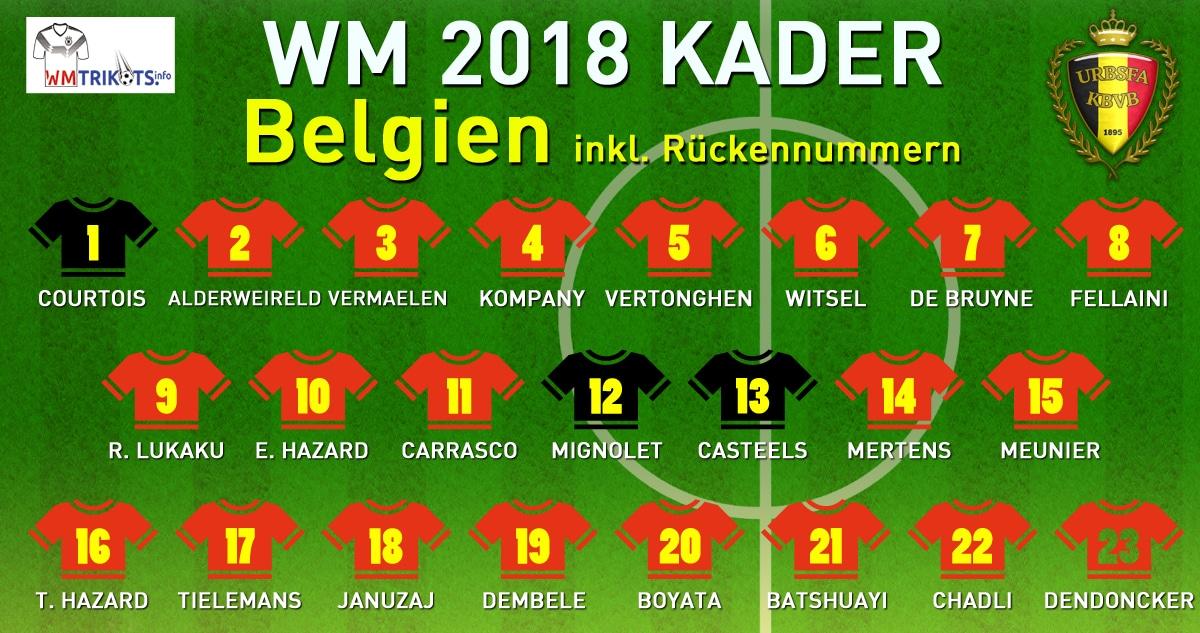 Belgien Wm Kader 2021