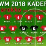 Rückennummern Marokko WM 2018