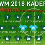 Rückennummern Mexiko WM 2018