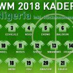 Rückennummern Nigeria WM 2018