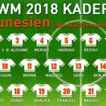 Rückennummern Tunesien WM 2018