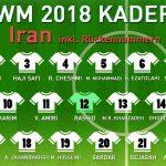 Rückennummern Iran WM 2018