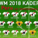 Rückennummern Peru WM 2018