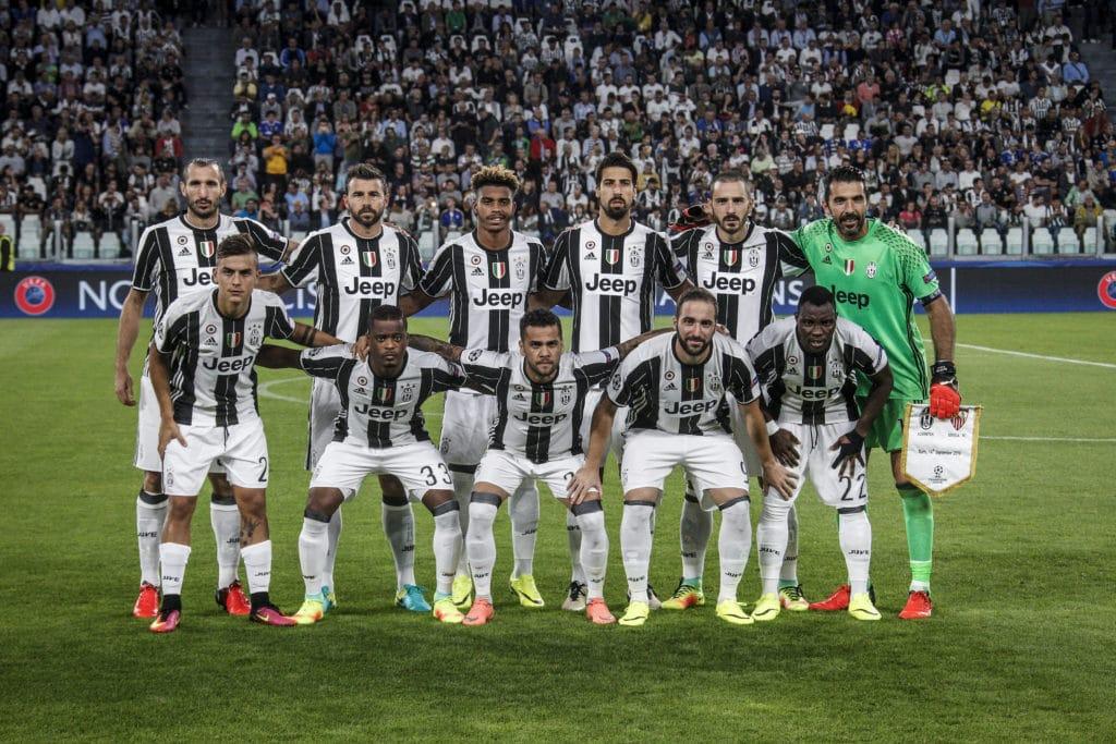 Juve am 14.9.2016 in der Champions League Juventus gegen den FC Sevilla (shutterstock/cristiano barni)