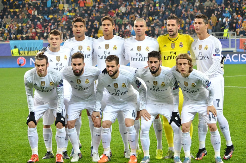 Real Madrids Mannschaft in dern 2016/17 Saison. Photo: Shutterstock.