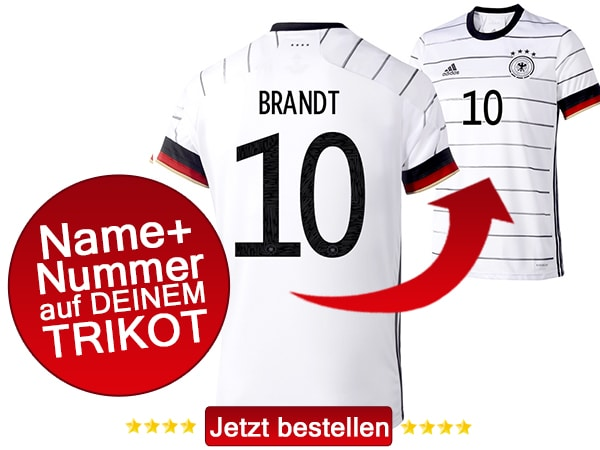 Julian Brandt mit der Nummer 10 auf dem DFB-Trikot 2020.