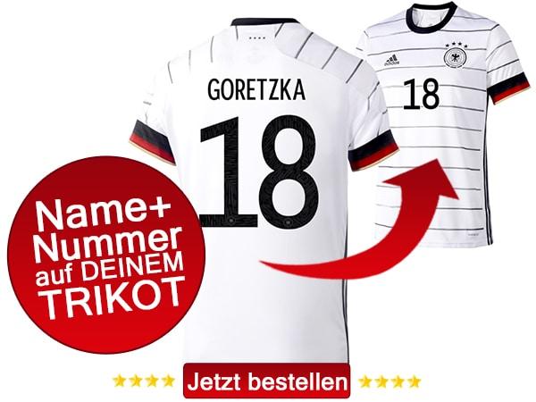 Leon Goretzka trägt nun die Nummer 18 auf dem neuen DFB Trikot 2020.