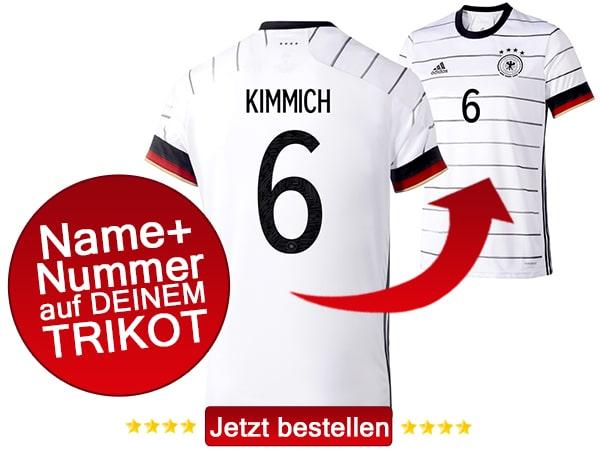 Joshua Kimmich trägt die Nummer 6 auf dem DFB Trikot 2020.