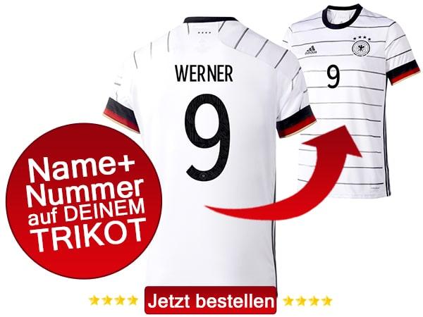 Das neue DFB Trikot mit Namen und Nummer bestellen