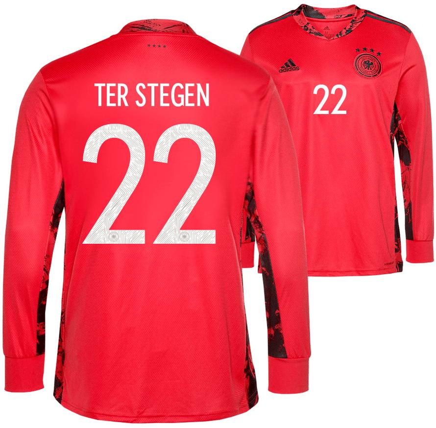 Das neue DFB Trikot mit der Nummer 22 von Marc Andre ter Stegen zur Fußball EM 2020.