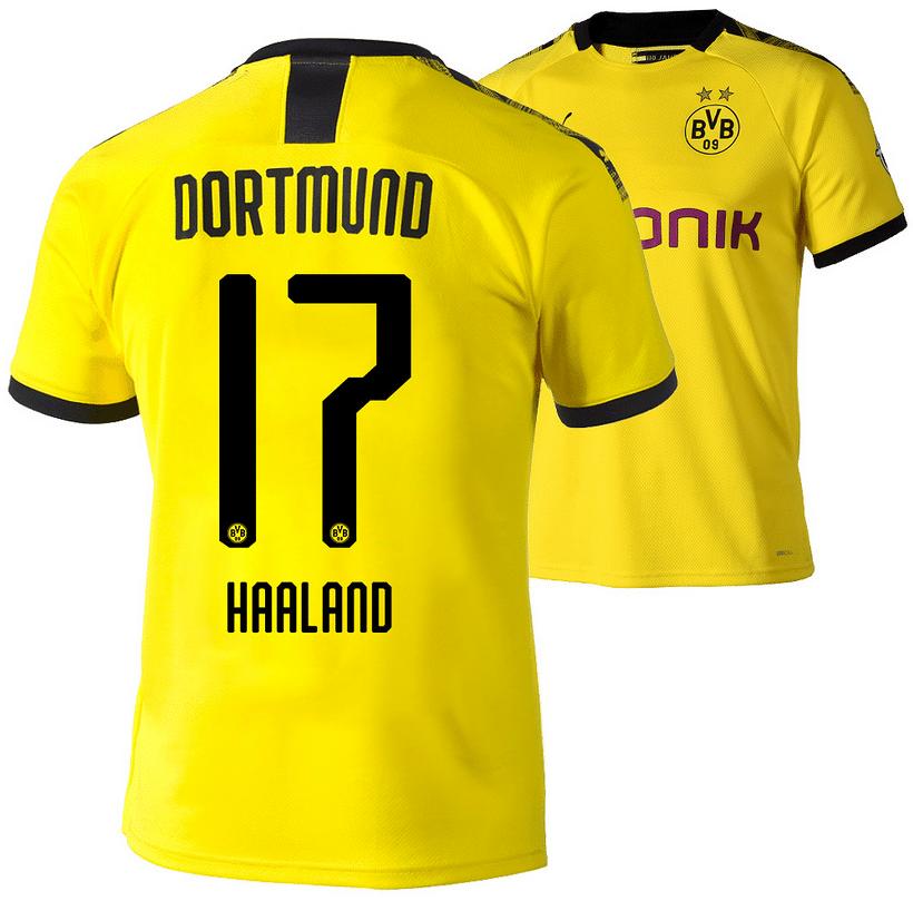 Erling Haaland vom BVB mit der Rückennummer 17.