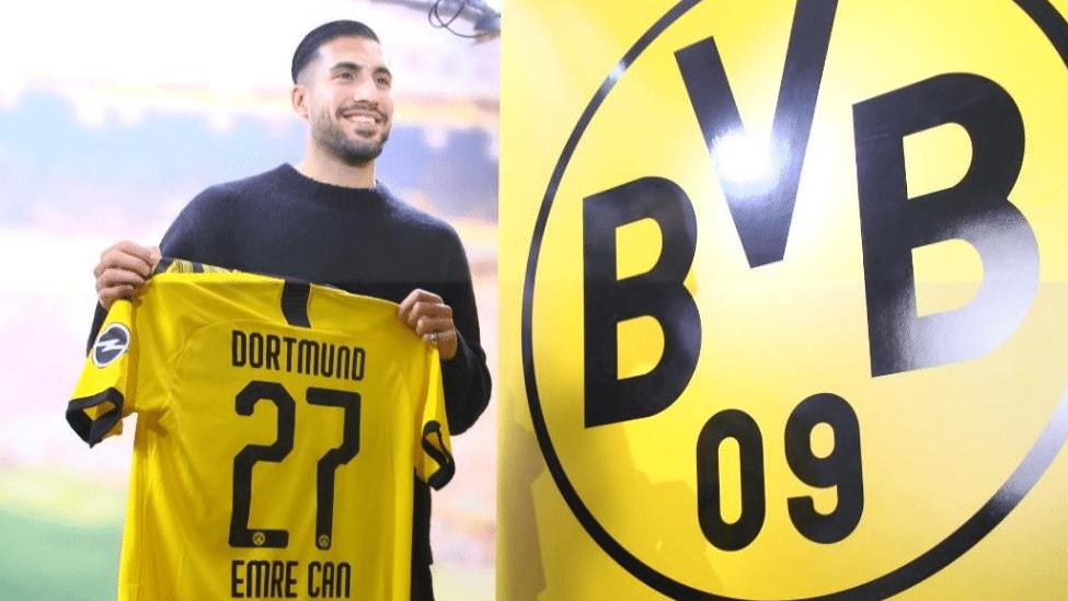 Emre Can wird von Juventus Turin ausgeliehen. Im neuen BVB Trikot trägt er die Nummer 27! (Foto BVB TV)