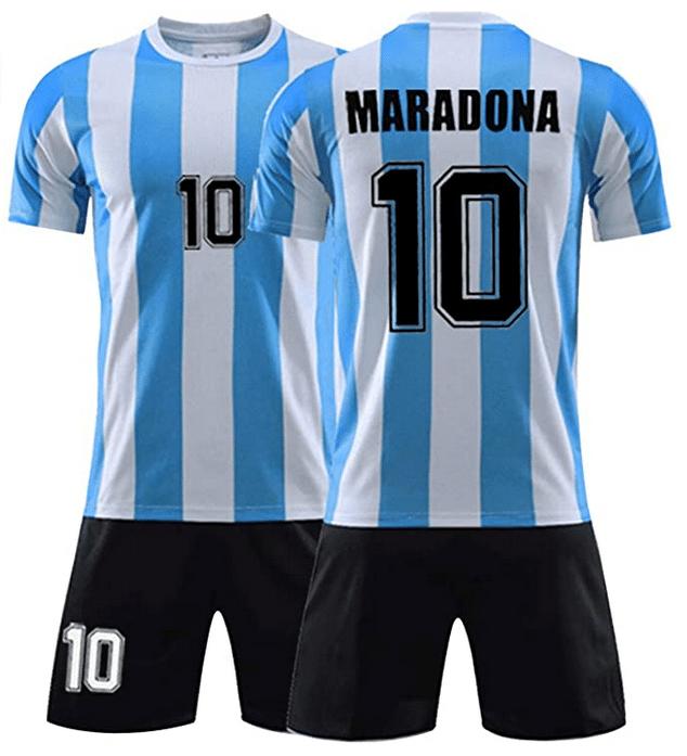 10 Maradona Nationalmannschaft 1986 Klassischer Retro Trainingsanzug f/ür Kinder Argentinien Fu/ßball Trikot Anzug M/ännlich Nr