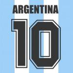 Maradona Rückennummer Nr.10 Argentinien
